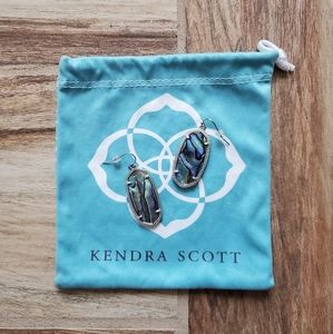 Kendra Scott | Elle Silver Abalone Earrings